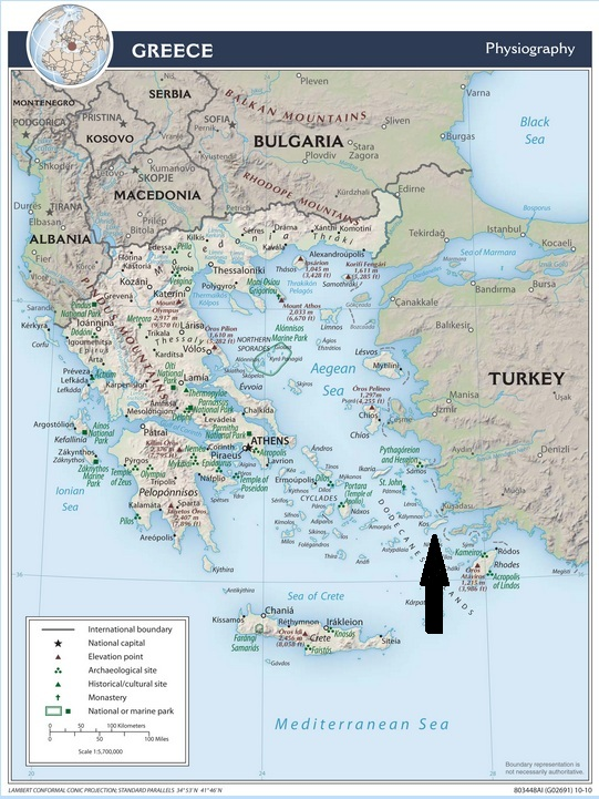 Greece map supplied by CIA Maps & Publications - CIA Maps - Central Intelligence Agency